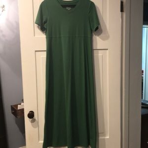 Denim & Co. green maxi dress xxs RUNS BIG